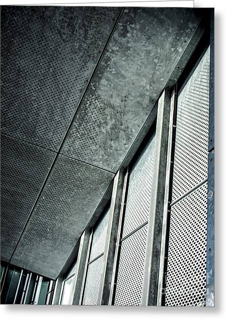 Stainless Steel Greeting Cards - Architectural Abstract with Stainless Steel Greeting Card by James Aiken