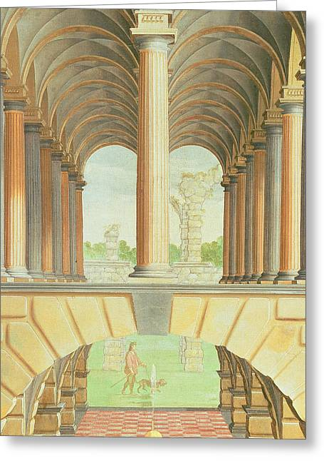 Hall Greeting Cards - Architectural Capriccio Greeting Card by Jacobus Saeys