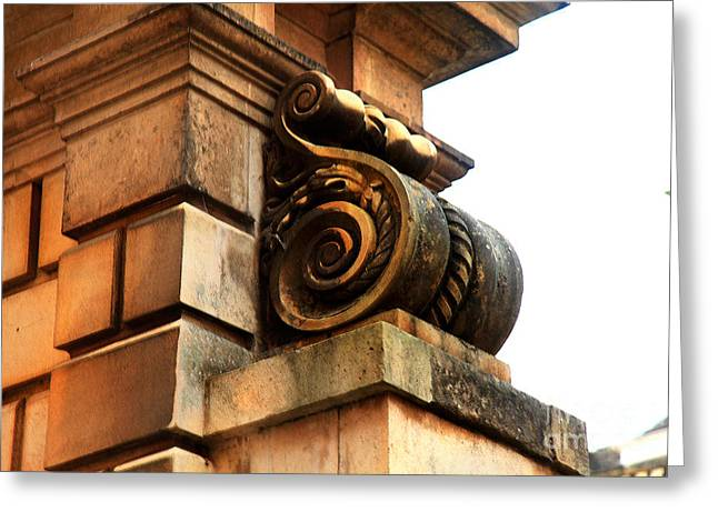 Classical Style Greeting Cards - Architectural Detail Cambridge University  Greeting Card by Eden Baed