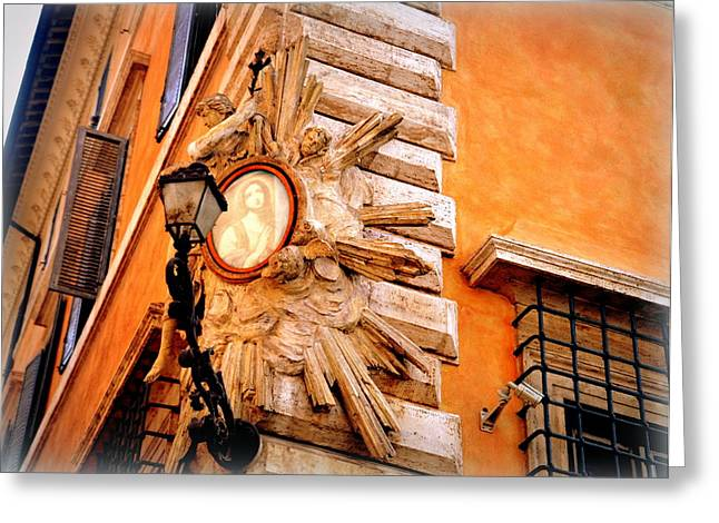 Faa Featured Greeting Cards - Architectural Detail in Rome Greeting Card by Toni Abdnour