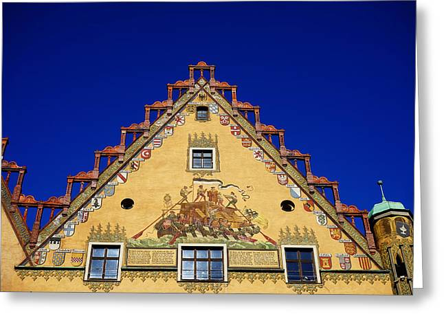 Ulm Greeting Cards - Architectural Detail in Ulm Germany Greeting Card by Mountain Dreams