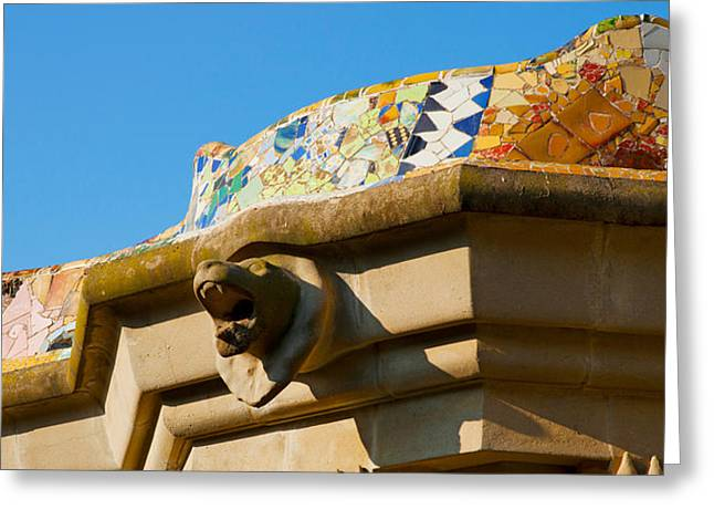 Guell Greeting Cards - Architectural Detail Of A Building Greeting Card by Panoramic Images