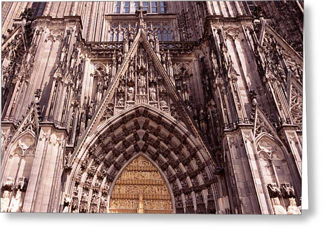 Gothic Germany Greeting Cards - Architectural Detail Of A Cathedral Greeting Card by Panoramic Images