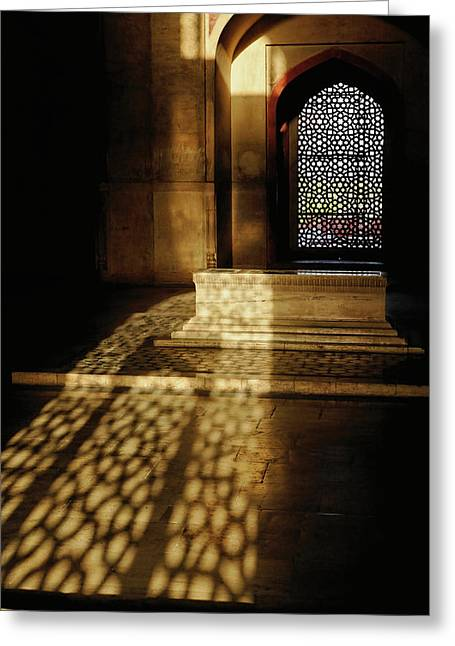 Architectural Details, Humayun's Tomb Greeting Card by Adam Jones