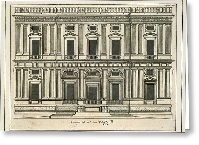 Architectural Engraving Greeting Card by British Library