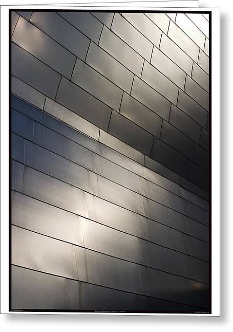 Stainless Steel Greeting Cards - Architecture - 07.26.09_360 Greeting Card by Paul Hasara