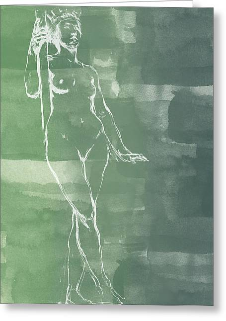 Nude Art Digital Art Greeting Cards - Architecture Greeting Card by Aged Pixel