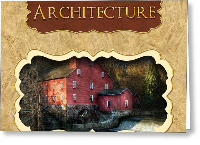 Old Mill Scenes Greeting Cards - Architecture button Greeting Card by Mike Savad