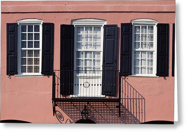 Rainbow Row Greeting Cards - Architecture Charleston Sc Greeting Card by Panoramic Images