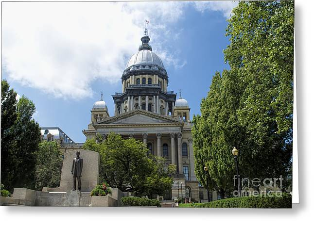 State Legislator Greeting Cards - Architecture - Illinois State Capitol  - Luther Fine Art Greeting Card by Luther  Fine Art