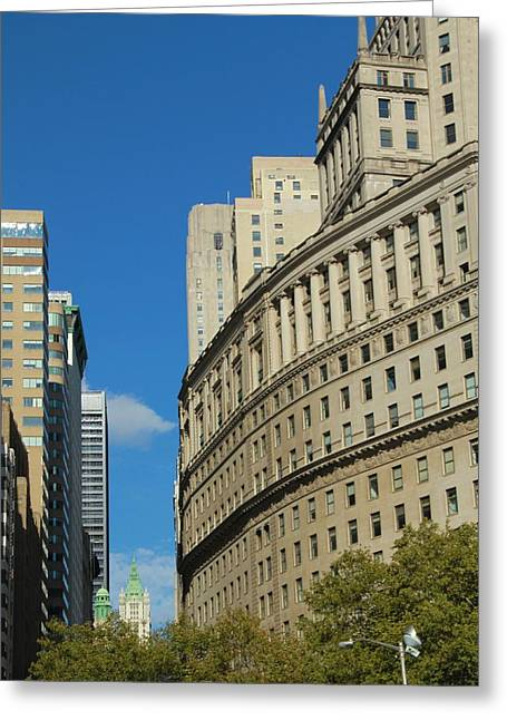 New Mind Greeting Cards - Architecture In New York City Greeting Card by Dan Sproul