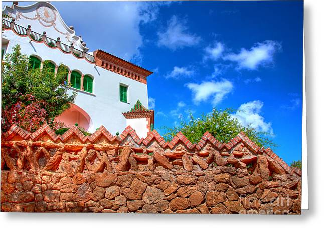 Guell Greeting Cards - Architecture in Park Guell Greeting Card by Michal Bednarek