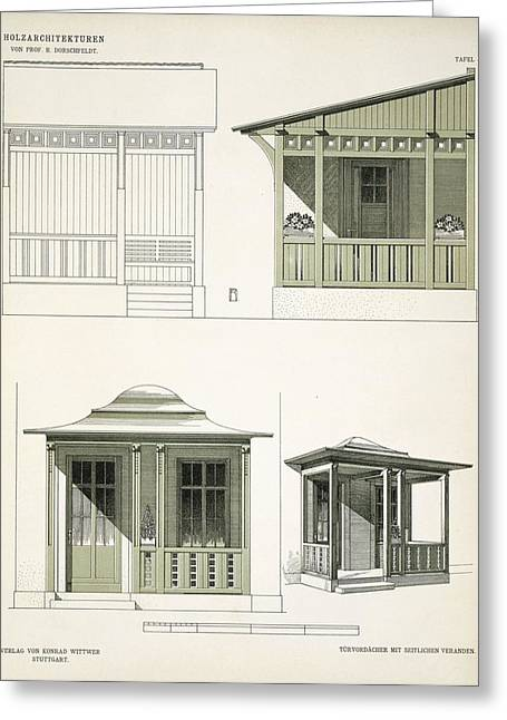 Architectural Design Greeting Cards - Architecture In Wood, C.1900 Greeting Card by Richard Dorschfeldt