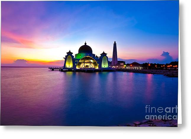 Straits Of Malacca Greeting Cards - Architecture Greeting Card by Wachira Lamai