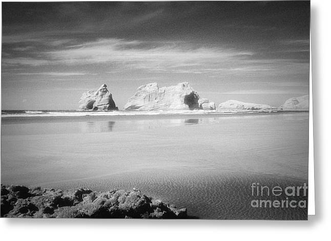 Archways Greeting Cards - Archway Islands Wharariki Beach Greeting Card by Colin and Linda McKie