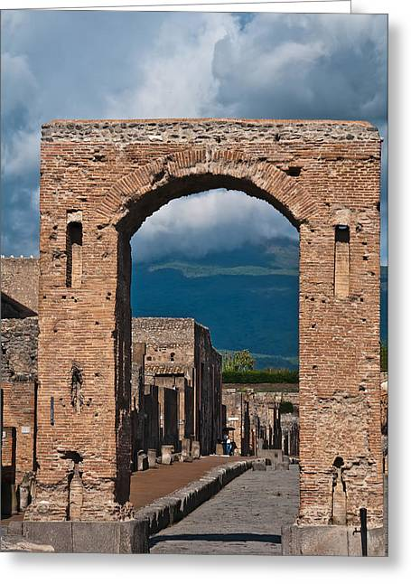 Naples Italy Greeting Cards - Archway Greeting Card by Marion Galt