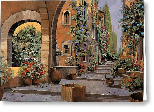 Spring Street Greeting Cards - Arco E Arcata Greeting Card by Guido Borelli