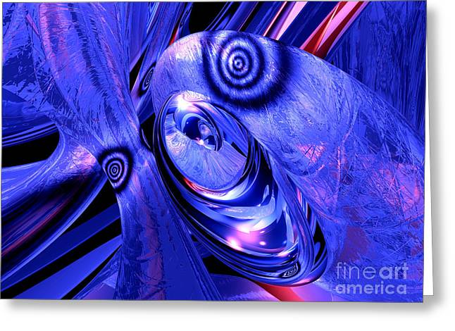 Love Poetry Greeting Cards - Arctic Chill Abstract Greeting Card by Alexander Butler