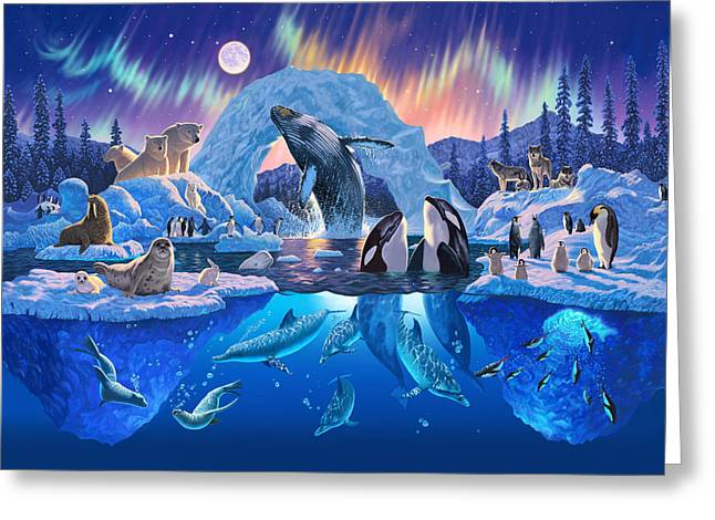 Polar Bears Greeting Cards - Arctic Harmony Greeting Card by Chris Heitt