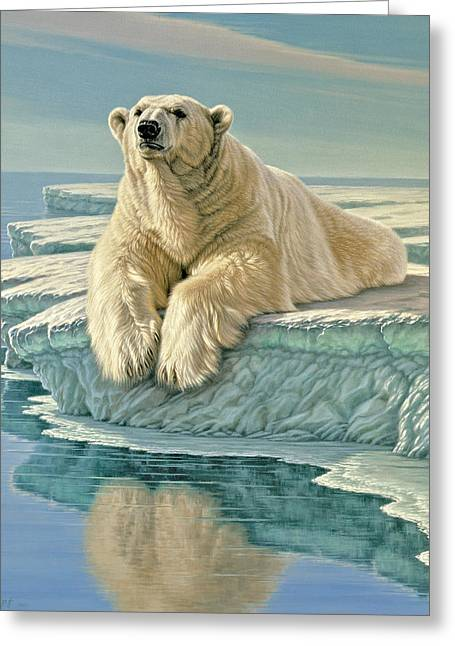 Polar Bears Greeting Cards - Arctic Heir Greeting Card by Paul Krapf