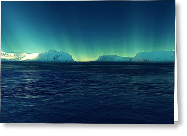 Spiegel Greeting Cards - Arctic Lights Greeting Card by Steffen Gierok