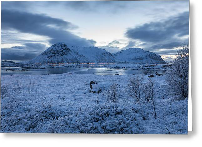 Lofoten Greeting Cards - Arctic Morning Greeting Card by Andy Bitterer