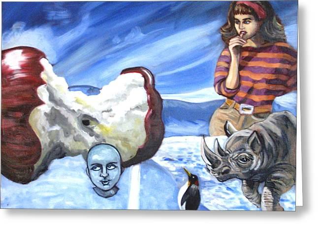 Arctic Soiree Greeting Card by John Ashton Golden