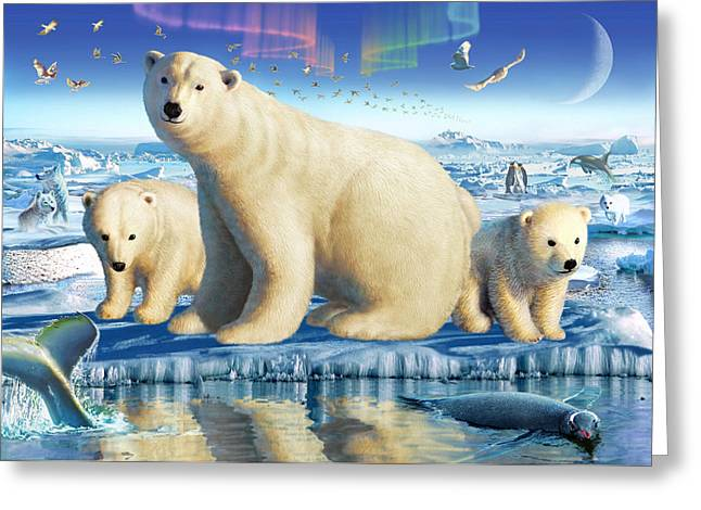 Caring Mother Greeting Cards - Arctic Splendor Greeting Card by Adrian Chesterman
