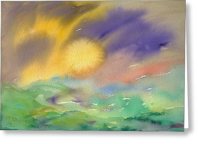 Maine Spring Paintings Greeting Cards - Northern Spring Greeting Card by Bruce Blanchard