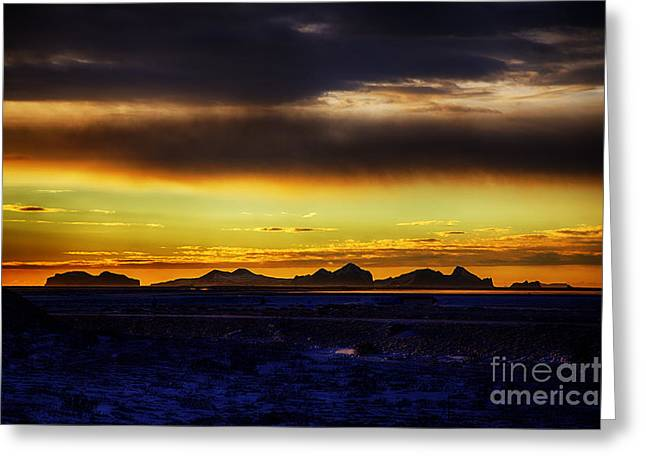 Atlantik Greeting Cards - Arctic Sunset Greeting Card by Fabian Roessler