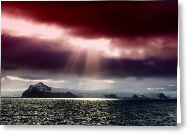 Ocean Vista Greeting Cards - Arctic Sunset Greeting Card by Mountain Dreams