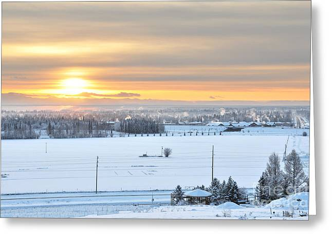 Arctic Winter Solstice  Greeting Card by Gary Whitton