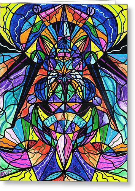 Frequency Prints Greeting Cards - Arcturian Awakening Grid Greeting Card by Teal Eye  Print Store