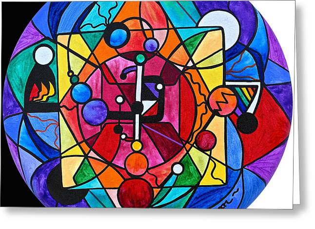 Arcturian Devine Order Grid Greeting Card by Teal Eye  Print Store