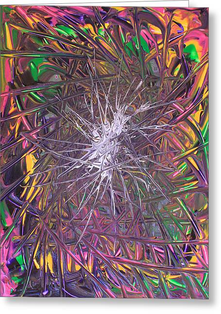 Art By Carl Deaville Greeting Cards - Arcylic Thick Paint One 8 August 2004 Greeting Card by Carl Deaville