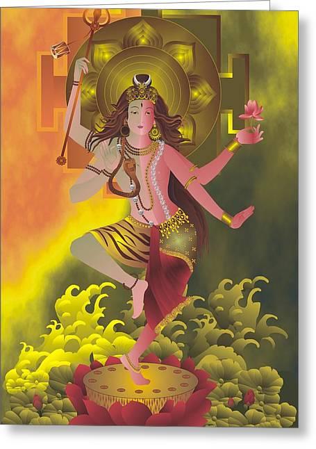 Ardhanareeswara  Greeting Card by Rupa Prakash