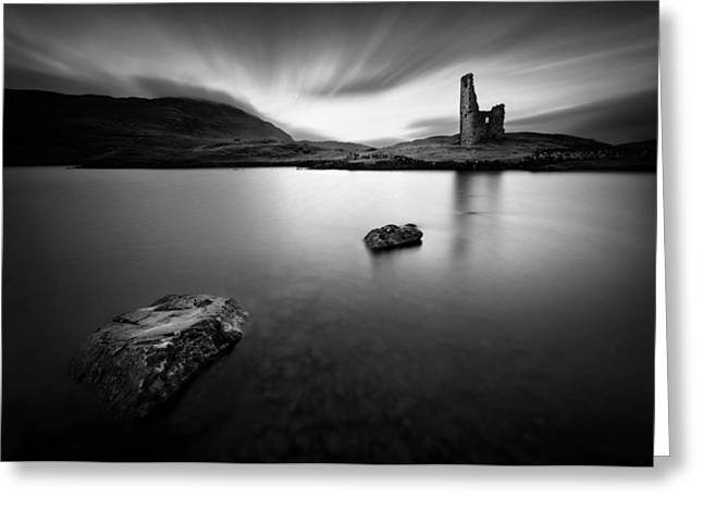 Ardvreck Castle 1 Greeting Card by Dave Bowman
