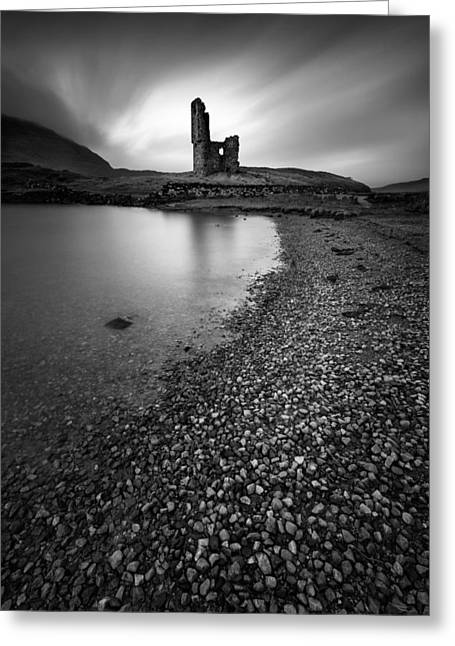 Fortification Greeting Cards - Ardvreck Castle 2 Greeting Card by Dave Bowman