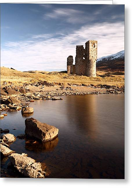 Scottish Highlands Greeting Cards - Ardvreck Castle Greeting Card by Grant Glendinning
