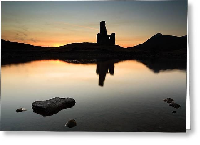 Ardvreck Sunset Greeting Card by Grant Glendinning