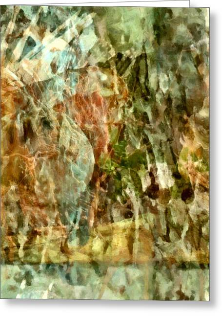 Abstract Digital Mixed Media Greeting Cards - Are Things What They Seem - Philosophical Abstract Greeting Card by Georgiana Romanovna