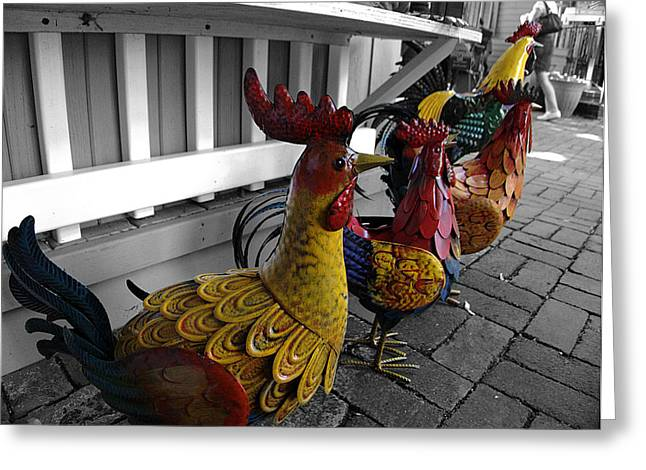 Toy Shop Greeting Cards - Are you Chicken? Greeting Card by Richard Reeve