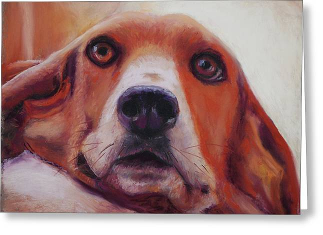 Close Up Pastels Greeting Cards - Are You Talking To Me Greeting Card by Billie Colson