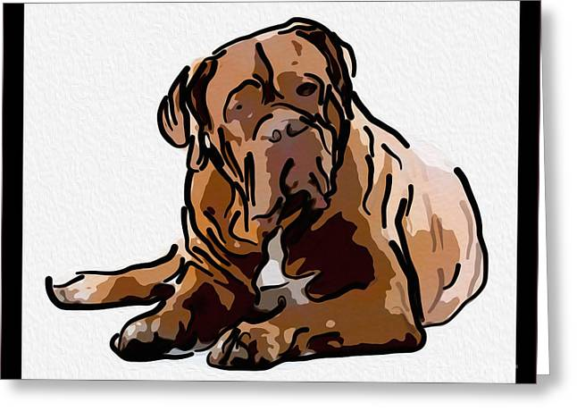 Puppies Mixed Media Greeting Cards - Are You Talking to Me Greeting Card by Omaste Witkowski