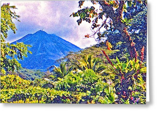 Jerome Stumphauzer Greeting Cards - Arenal Volcano Costa Rica Greeting Card by Jerome Stumphauzer
