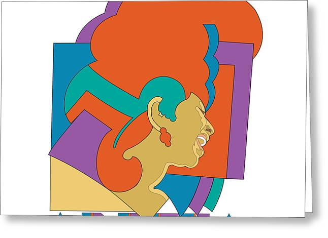 Franklin Digital Art Greeting Cards - Aretha Franklin No.04 Greeting Card by Caio Caldas