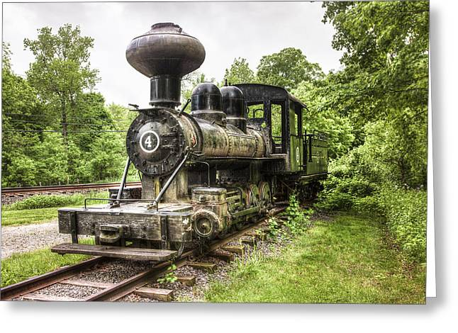Narrow Gauge Steam Train Greeting Cards - Argent Lumber Company Engine NO. 4 - Antique Steam Locomotive Greeting Card by Gary Heller