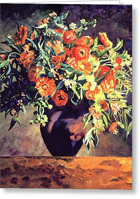 Floral Still Life Greeting Cards - Argenteuil Arrangement Greeting Card by David Lloyd Glover