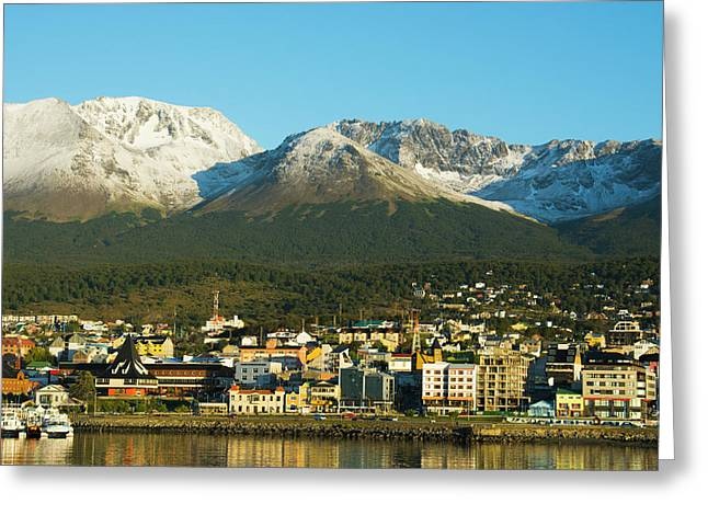 Argentina Tierra Del Fuego Ushuaia Greeting Card by Inger Hogstrom