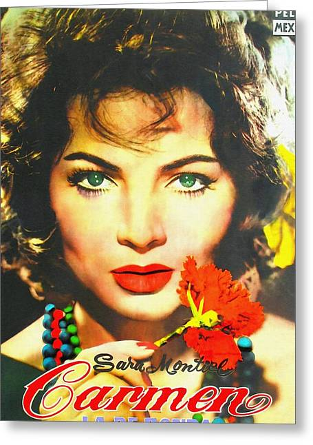 Musical Film Mixed Media Greeting Cards - Argentinian poster of Carmen la de Ronda Greeting Card by Art Cinema Gallery